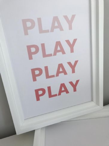 PLAY PLAY PLAY PLAY (PINK A4)